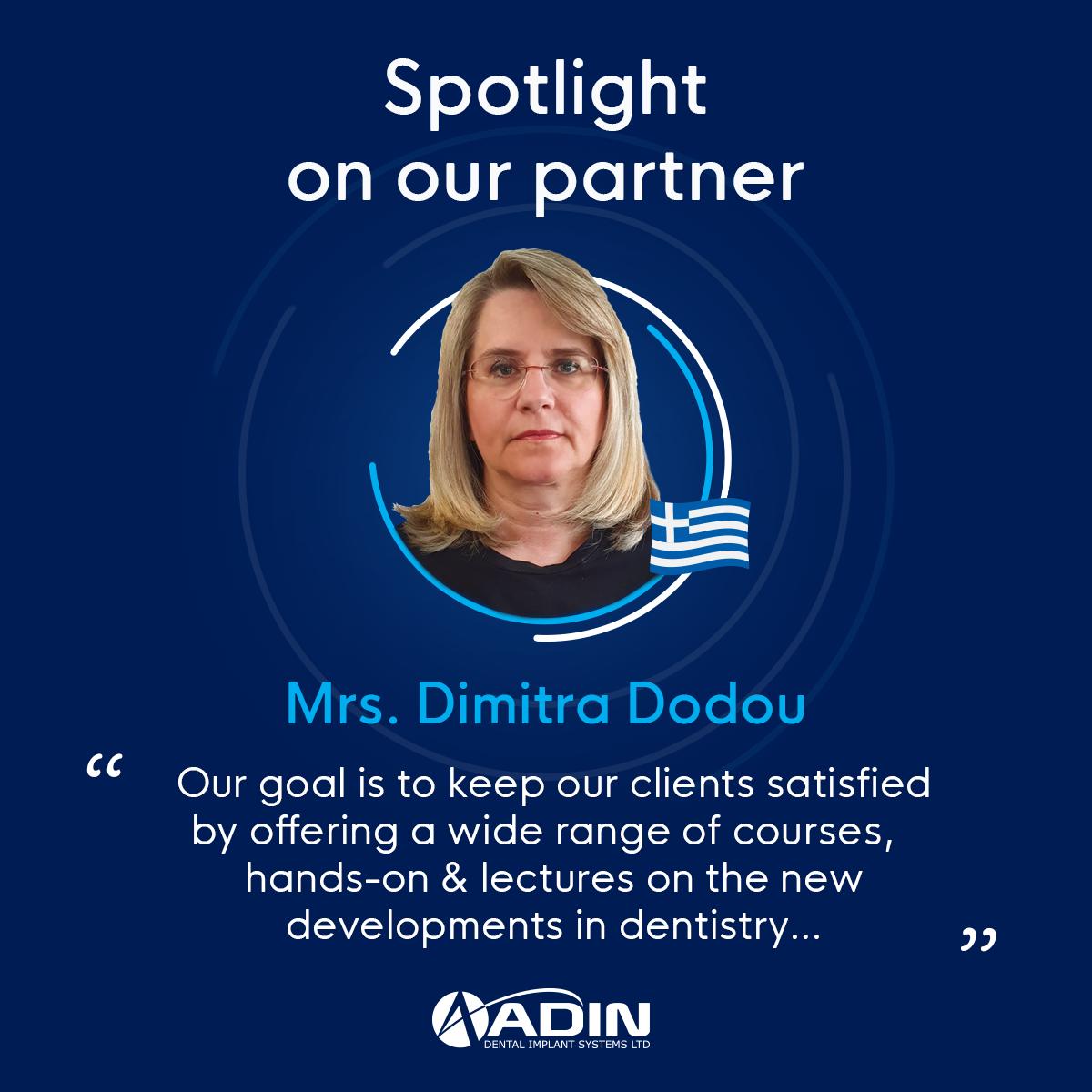 Spotlight on our partner Mrs. Dimitra Dodou, Greece